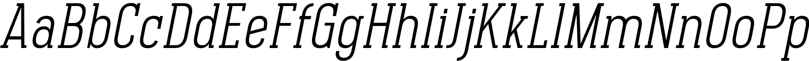 Pekora Light Slab Serif Italic