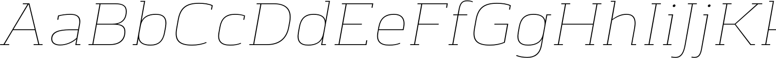 Chercher Hairline Slant Font