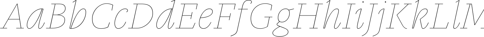 Gauthier Display FY Thin Italic Font