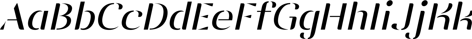 Vanage Light Italic