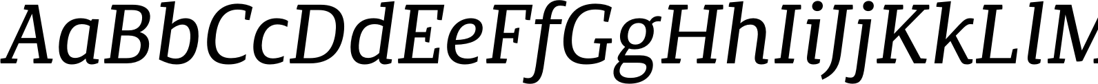 Canberra FY Italic Font