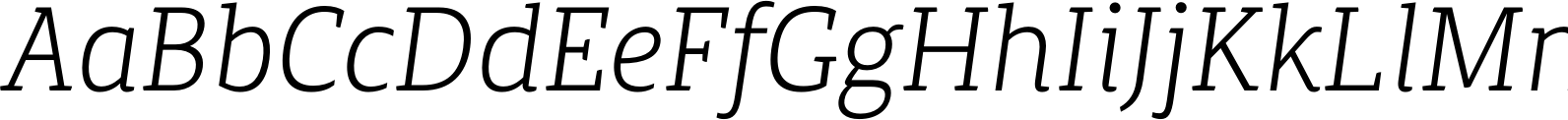 Canberra FY Light Italic Font