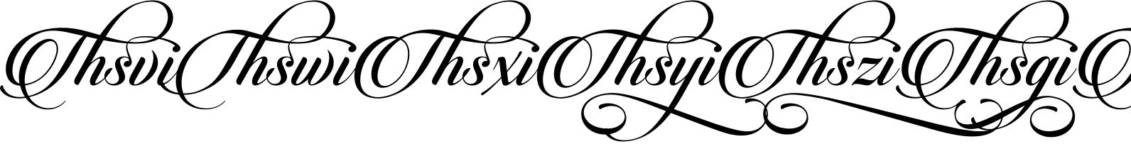 Candlescript Ligatures Mix
