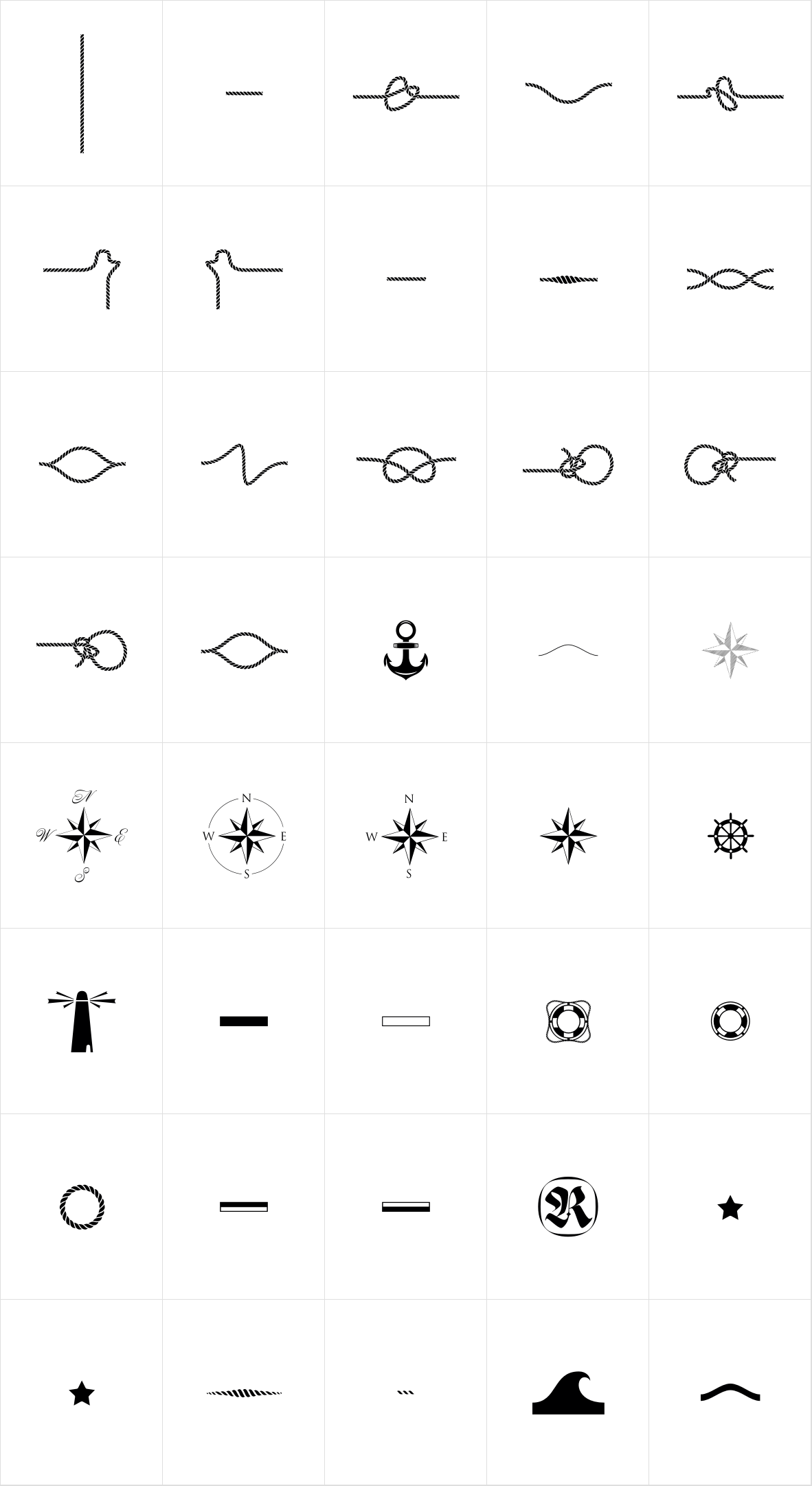 Nautica Icons and Knots
