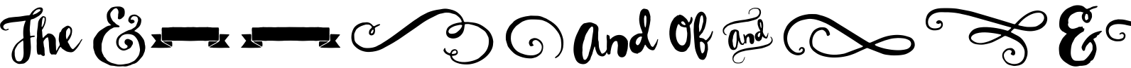 Wanderlust Letters Extras Font