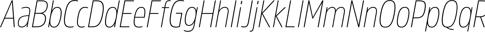 AmsiProCond ThinItalic Font