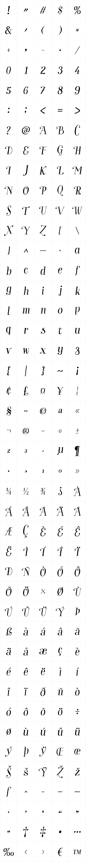 Garden Swash Italic