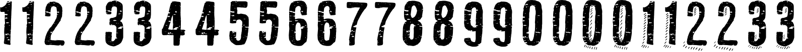 RUBA STYLE NUMBERS Font