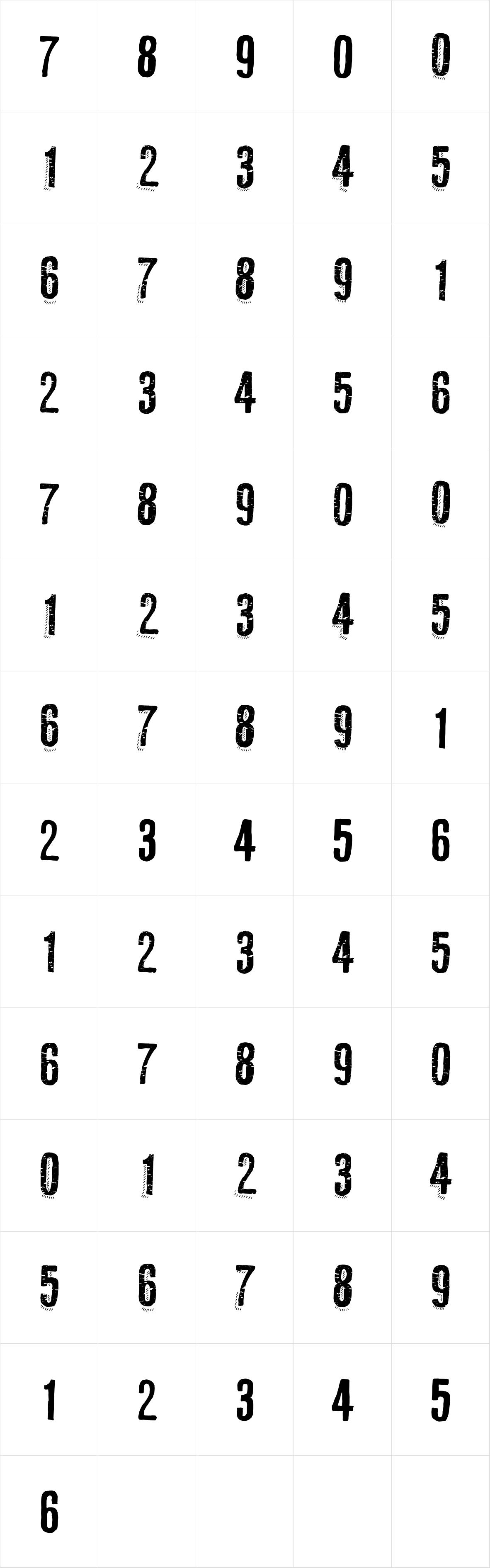 RUBA STYLE NUMBERS