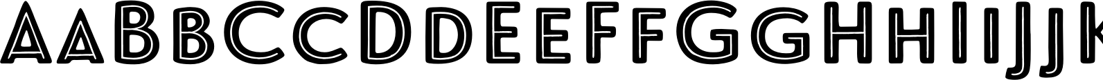 Le Havre Rough Centerline Reversed Font