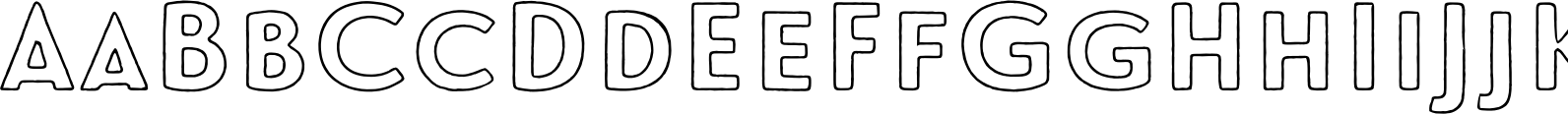 Le Havre Rough Outline Font