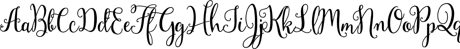Mulberry Script Bold Font