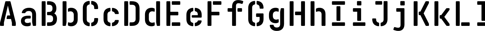 Realtime Stencil Rounded Bold Font