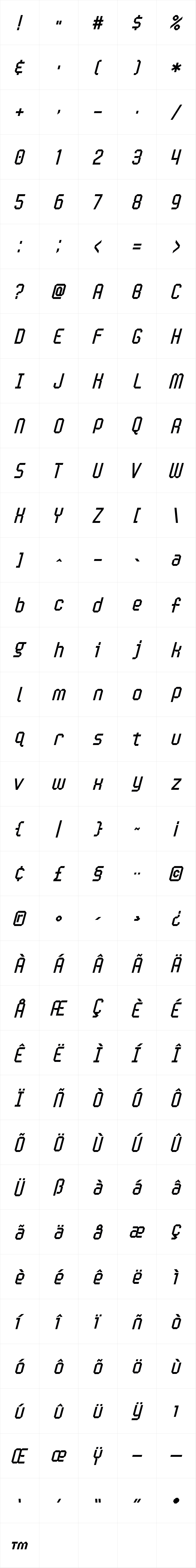 Handheld Italic