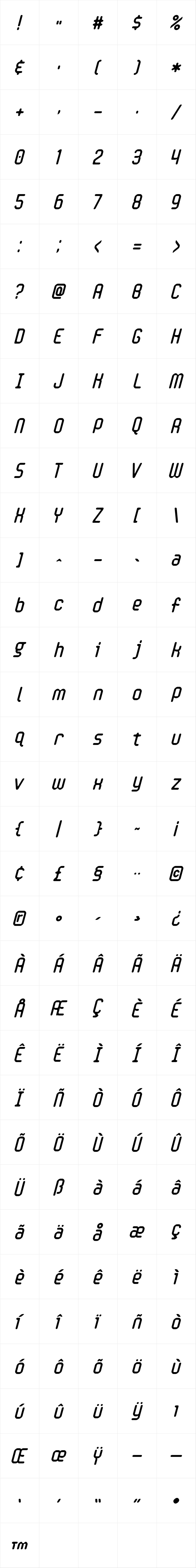 Handheld Round Italic