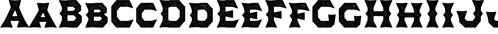 Dever Wedge Halftone Bold Font