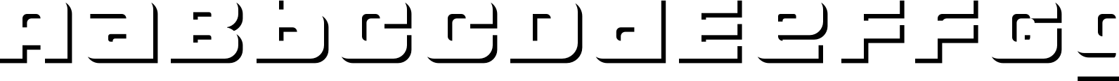 LECO 1988 Shadow Font