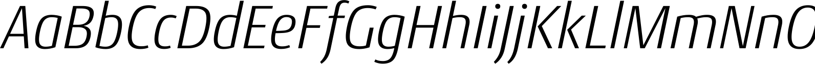 Conto Narrow Light Italic Font