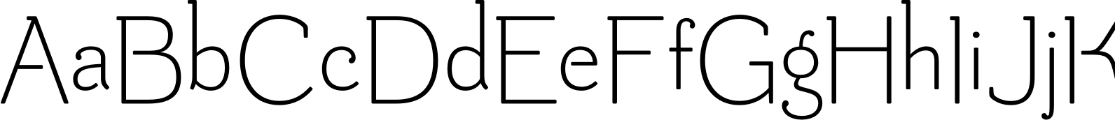 Be Creative Extralight Font