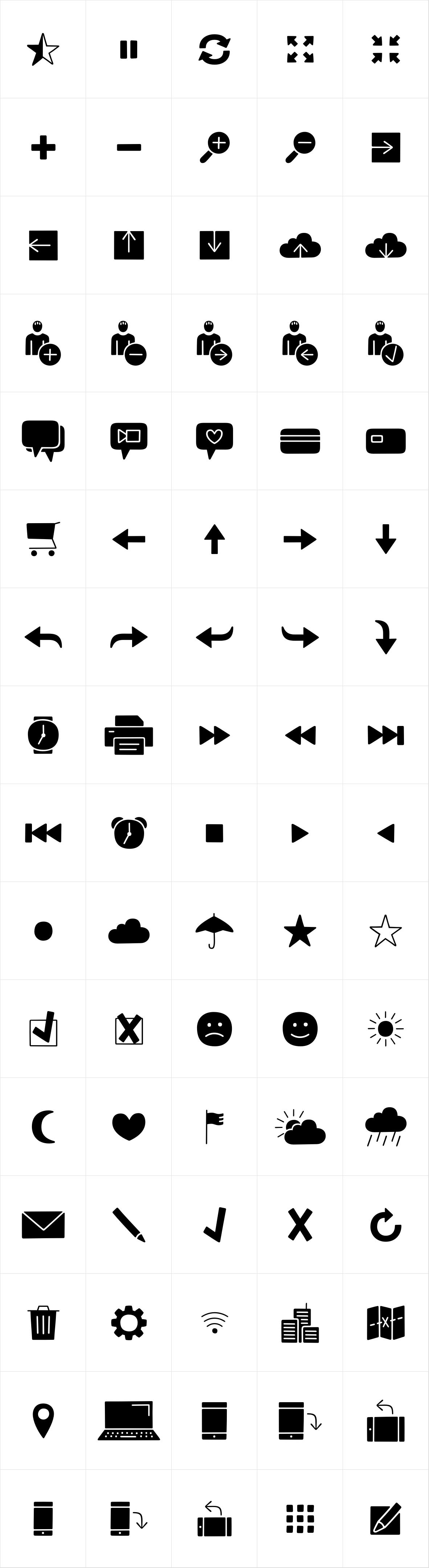 Jabana Extras App Icons Black