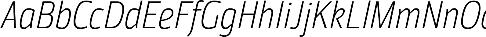 MoveoSansCond LightItalic Font