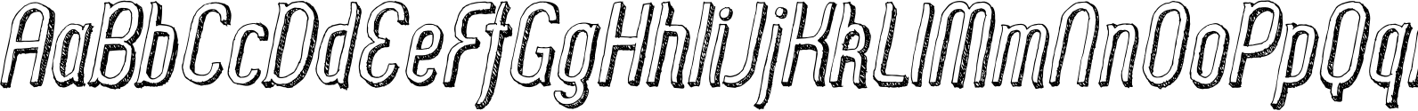 Zoo 300 Sketch Shadow Italic Font