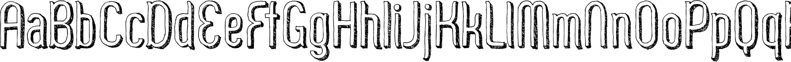 Zoo 300 Sketch Shadow Font