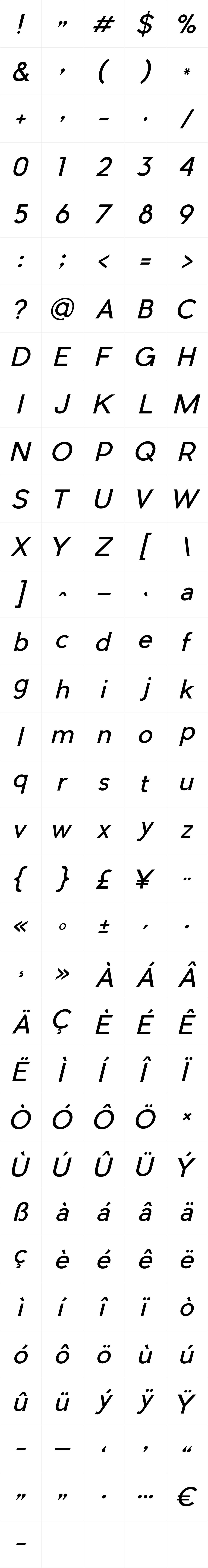 Pier Sans Italic