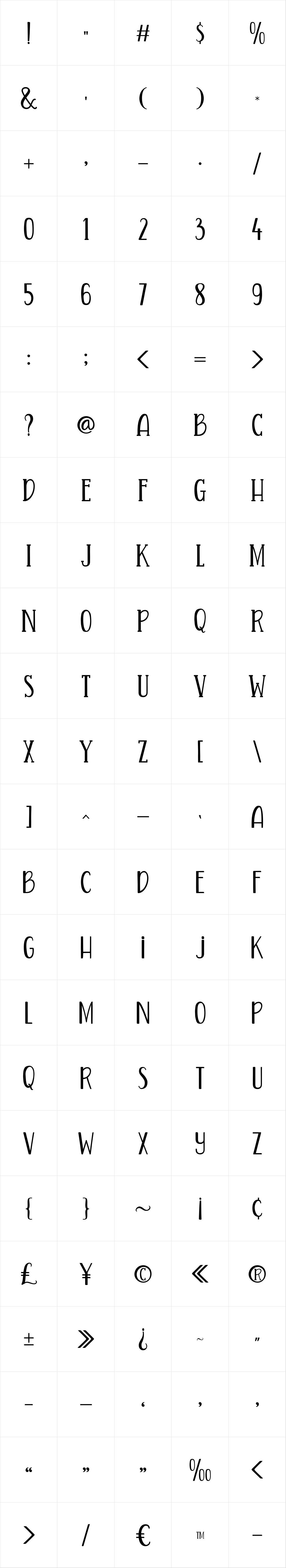 Quinte Typeface