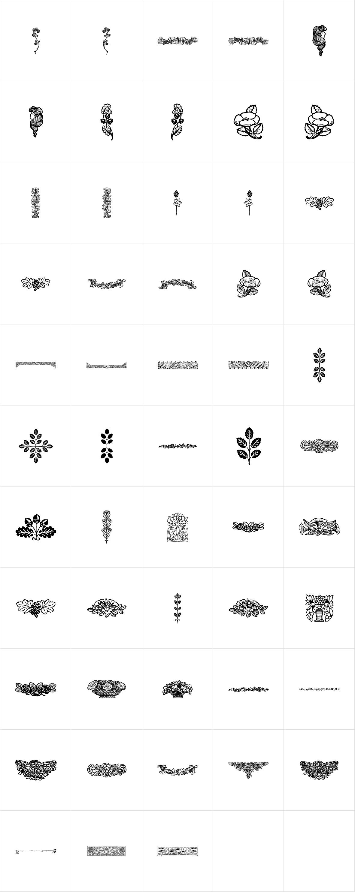 Botanique Ornaments