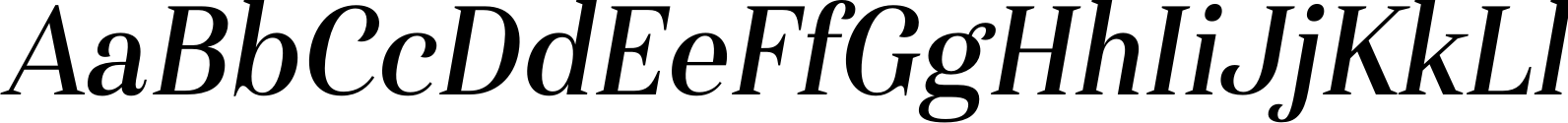 Haboro Condensed Medium Italic Font