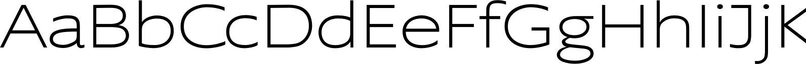 Supra ExtraLight Extended Font