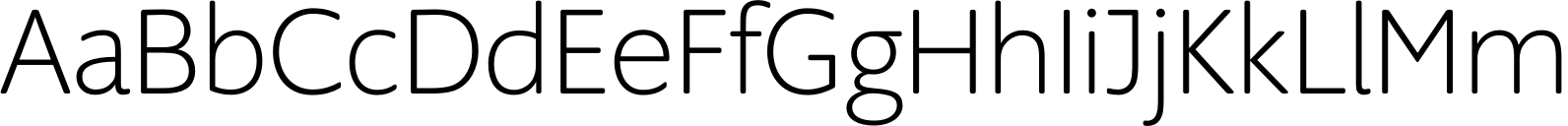 Supra Rounded ExtraLight Font