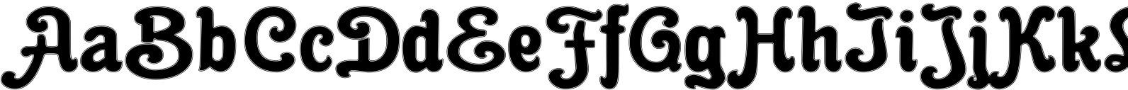 Cacao Fat Inline Font