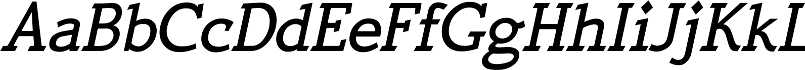 Quick Type Medium Italic Font