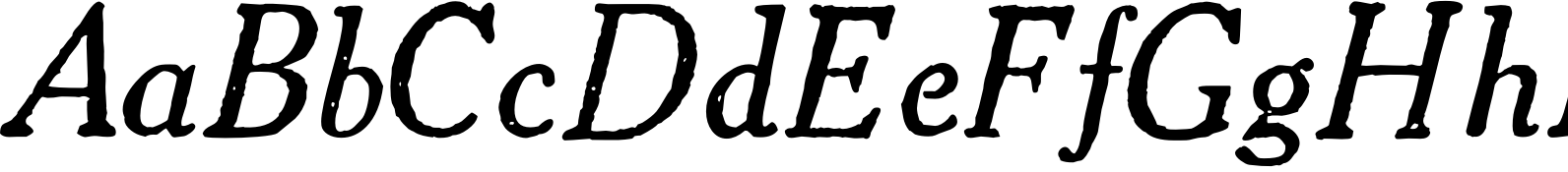 1906 French News Italic Font
