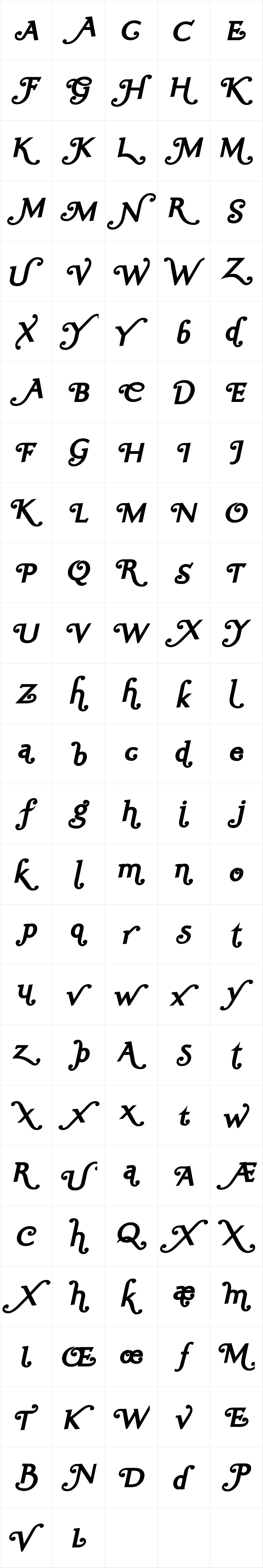 Ela Swashes ExtraBold Italic