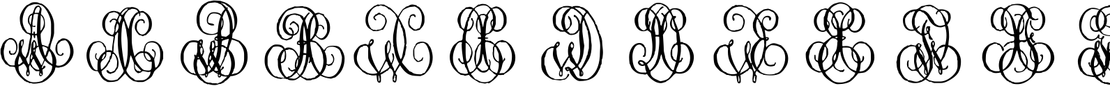 1864 GLC Monogram