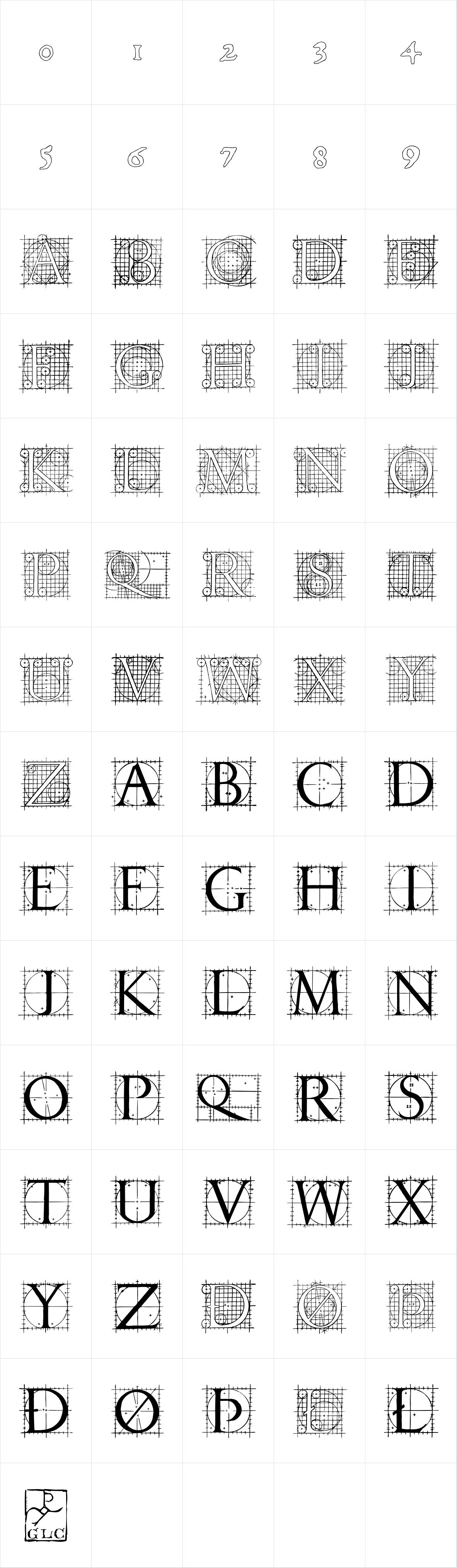 1529 Champ Fleury Initials