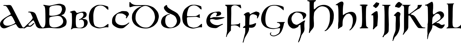 750 Latin Uncial Normal Font