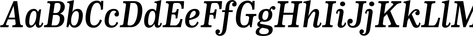 CA Normal Serif SemiBold It Font