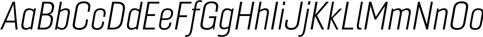 Gineso Cond Light Italic Font