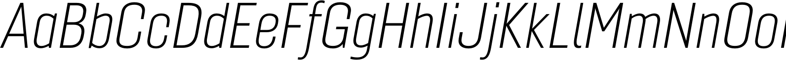 Gineso Cond Thin Italic Font