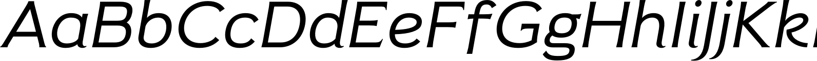 Pseudonym Wide Italic Font