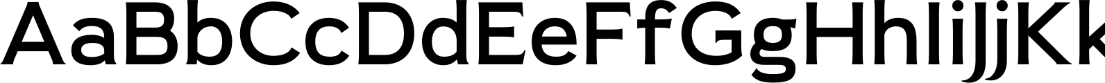 Pseudonym Wide Medium Font