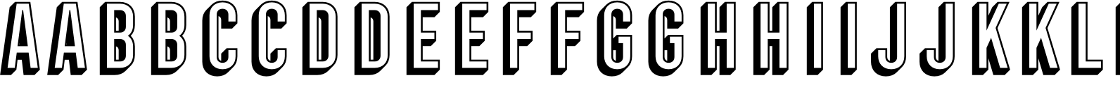 Frontage Condensed 3D Font