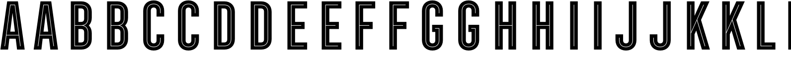Frontage Condensed Inline Font