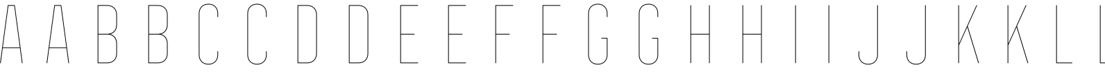 Frontage Condensed Line Font