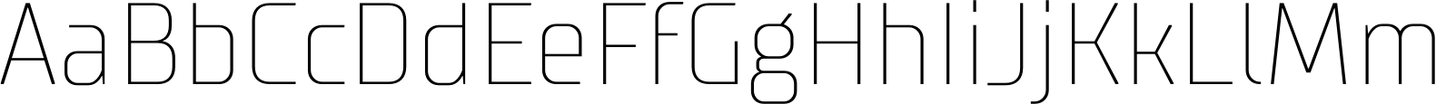 TT Supermolot Condensed Thin Font
