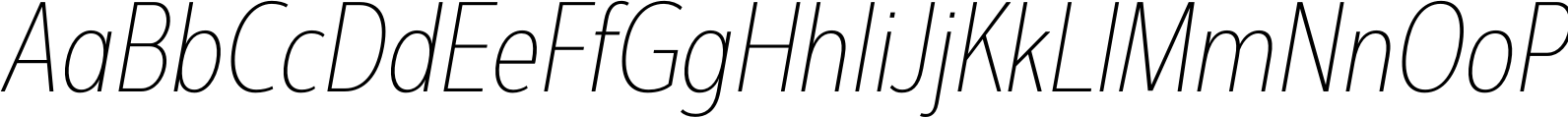 Interval Next Condensed Ultra L Italic Font